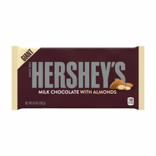 Hershey's Giant Milk Chocolate Bar with Almonds Perspective: front