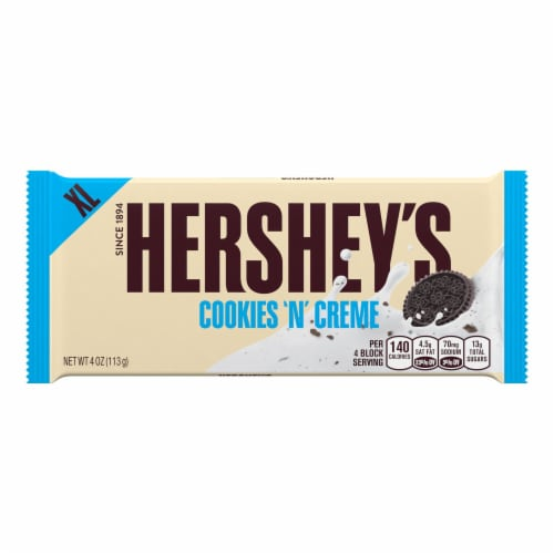 Hershey's Cookies 'n' Creme Extra Large Candy Bar Perspective: front