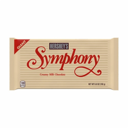Hershey's Symphony Giant Milk Chocolate with Almonds and Toffee Bar Perspective: front