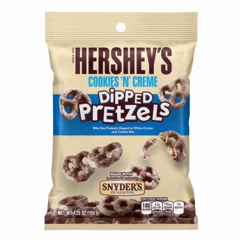 Hershey Dipped Pretzels Cookies N Creme Perspective: front