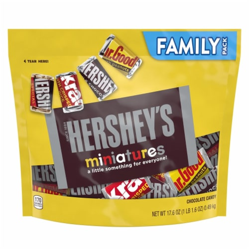 Hershey's Miniatures Chocolate Candy Assortment Family Pack Perspective: front