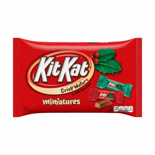 Kit Kat Miniatures Milk Chocolate Candy Perspective: front