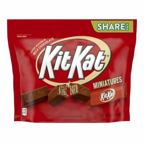Kit Kat Miniatures Milk Chocolate Wafer Candy Bars Perspective: front