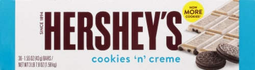 Hershey's Cookies 'n' Creme Standard Bar Box Perspective: front