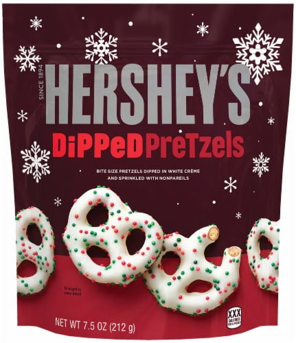 Hershey's Holiday Dipped Pretzels Perspective: front