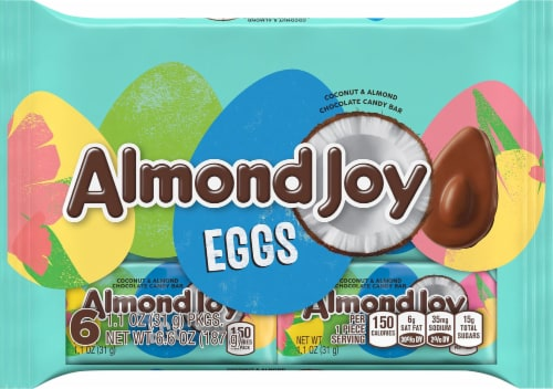 Almond Joy Coconut & Almond Eggs 6 Count Perspective: front