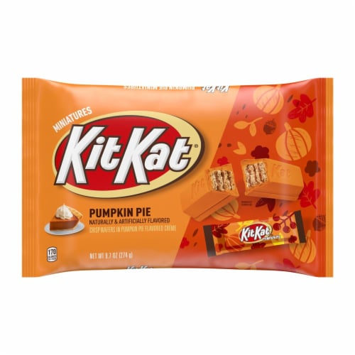 Kit Kat® Miniatures Wafer Bars Halloween Candy in Pumpkin Pie Flavored Creme Perspective: front