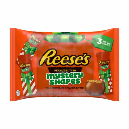 Reese's Milk Chocolate Peanut Butter Mystery Shapes Holiday Candy Perspective: front
