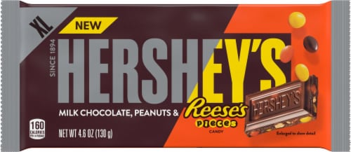 Hershey's Milk Chocolate Reese's Pieces Candy Bar Perspective: front