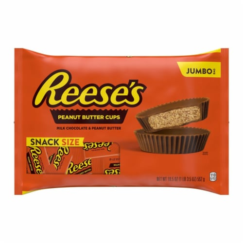 Reese's Snack Size Peanut Butter Cups Perspective: front