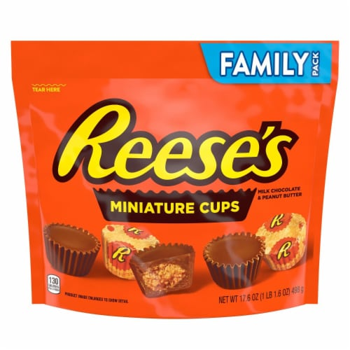 Reese's Miniature Peanut Butter Cups Candy Family Pack Perspective: front