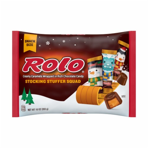 Rolo Stocking Stuffer Squad Creamy Caramel Chocolate Candy Perspective: front