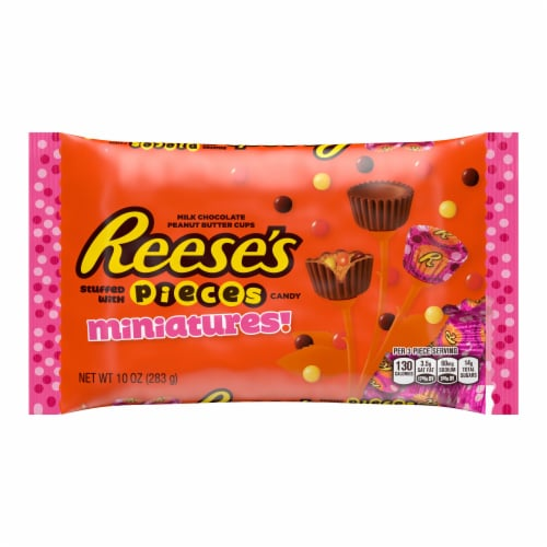 Reese's Miniatures Pieces Filled Peanut Butter Cups Perspective: front