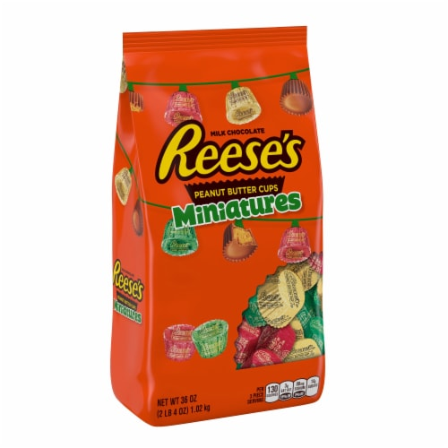 Reese's Peanut Butter Cups Miniatures Holiday Candy Perspective: front