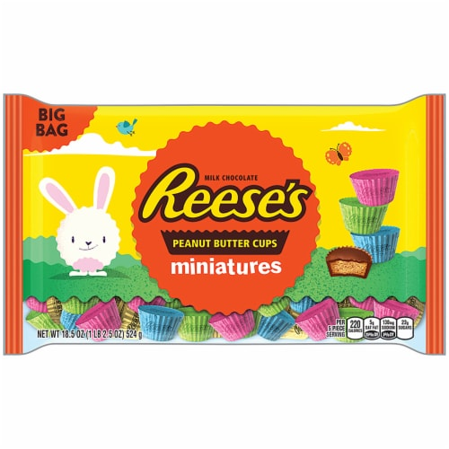 Reese's Peanut Butter Cups Miniatures Easter Pastel Candy Perspective: front