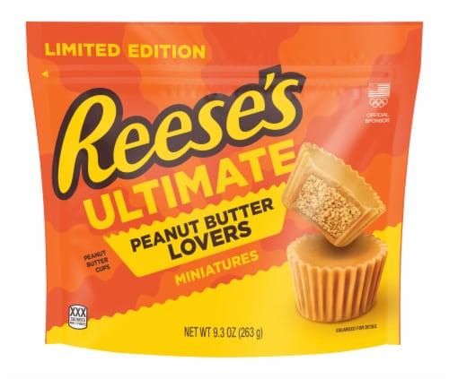 Reese's Ultimate Peanut Butter Lovers Miniature Peanut Butter Cups Perspective: front