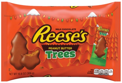 Reese's Peanut Butter Trees Candy Perspective: front