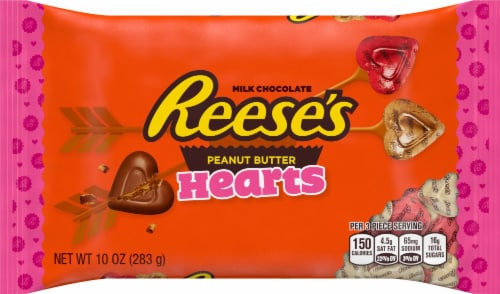 Reese's Milk Chocolate Peanut Butter Hearts Perspective: front