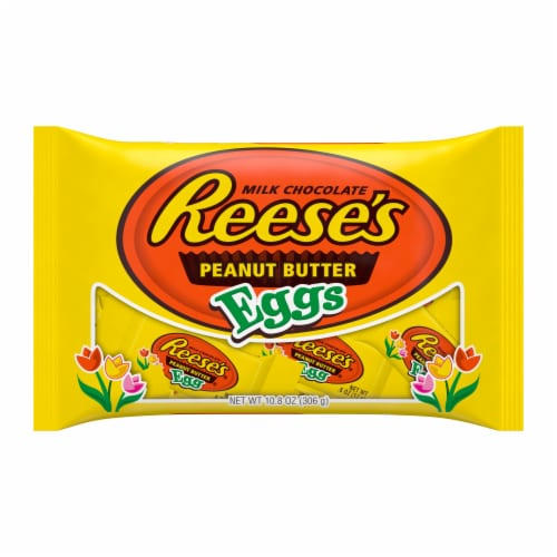 Reese's Milk Chocolate Peanut Butter Eggs Perspective: front