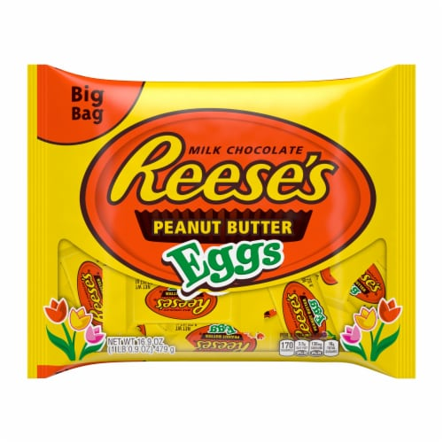 Reese's Snack Size Peanut Butter Eggs Perspective: front