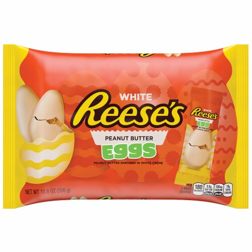 Reese's Easter White Peanut Butter Eggs Perspective: front