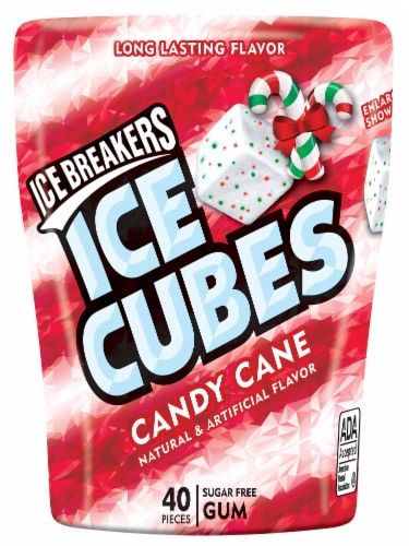 Ice Breakers Ice Cubes Candy Cane Sugar Free Gum Perspective: front