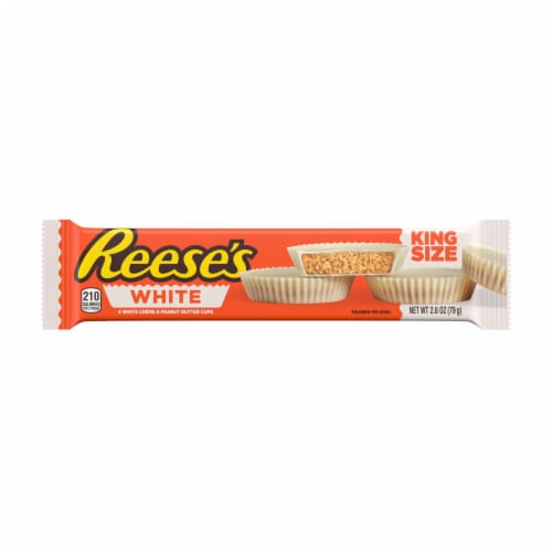 Reese's King Size White Creme Peanut Butter Cups Perspective: front