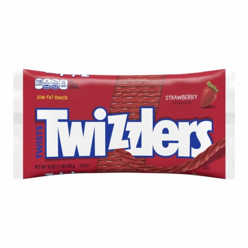 Twizzlers Twists Strawberry Flavored Candy Perspective: front