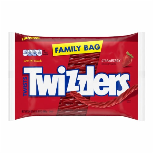 Twizzlers Strawberry Twists Family Bag Perspective: front