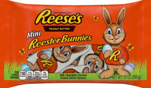 Reese's Mini Reester Bunnies Candy Perspective: front