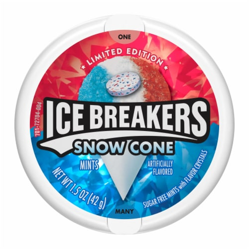 Ice Breakers Limited Edition Snow Cone Flavored Mints Perspective: front