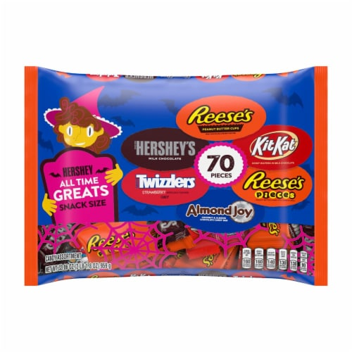 Hershey's All Time Greats Chocolate and Sweets Snack Size Candy Assortment Perspective: front