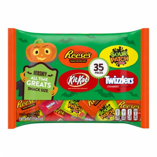 Hershey's Reese's Kit Kat Sour Patch Kids Twizzlers Candy Assortment Perspective: front