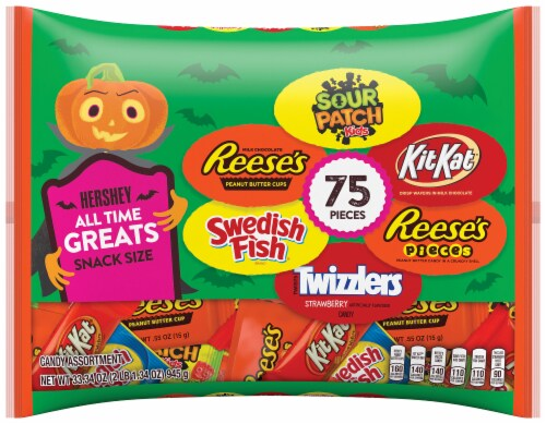 Hershey All-Time Greats Snack Size Halloween Candy Assortment Perspective: front
