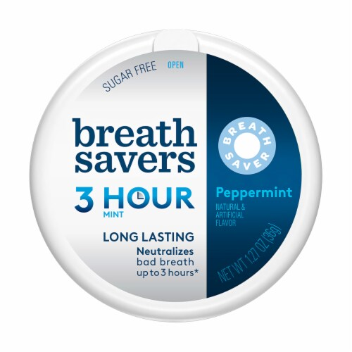 Breath Savers Peppermint Mints Perspective: front