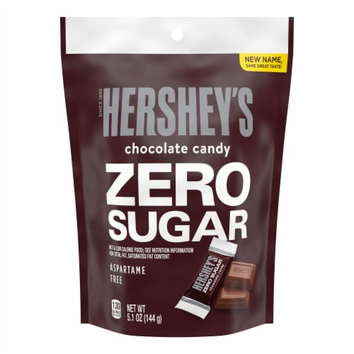 Hershey's Zero Sugar Chocolate Candy Perspective: front