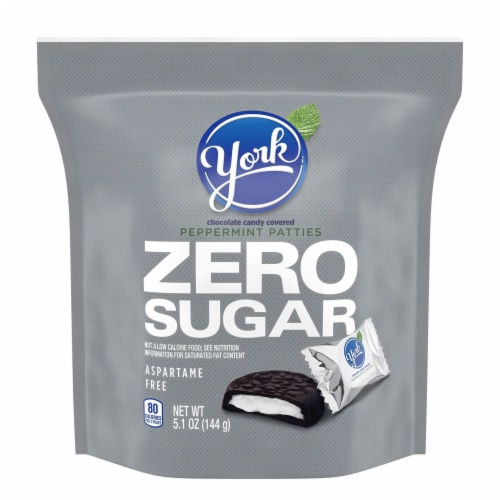 York Zero Sugar Chocolate Covered Peppermint Patties Perspective: front