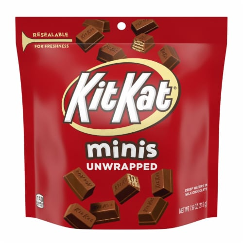 Kit Kat Minis Unwrapped Milk Chocolate Wafer Bars Candy Share Pack Perspective: front