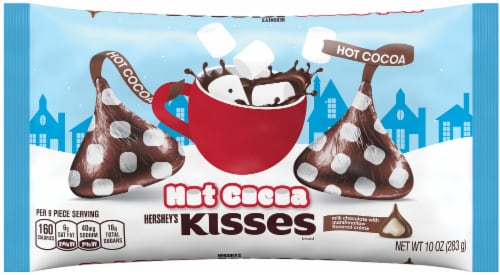 Hershey's Hot Cocoa Kisses Candy Perspective: front