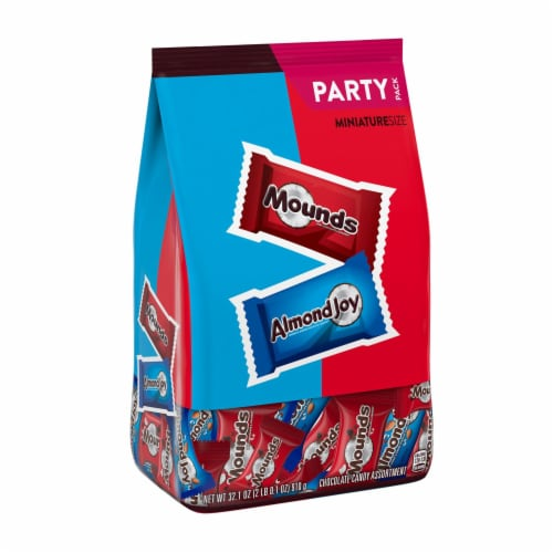 Almond Joy & Mounds Miniatures Candy Variety Bag Perspective: front