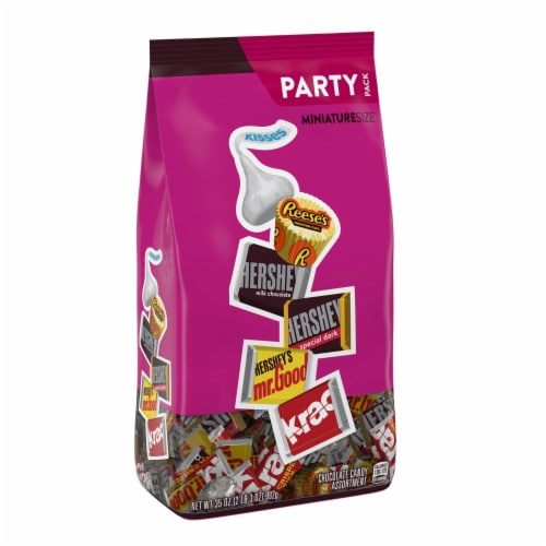 Hershey's Miniatures Chocolate Candy Assortment Party Pack Perspective: front