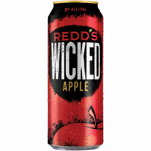 Redd's Wicked Apple Ale Beer Perspective: front