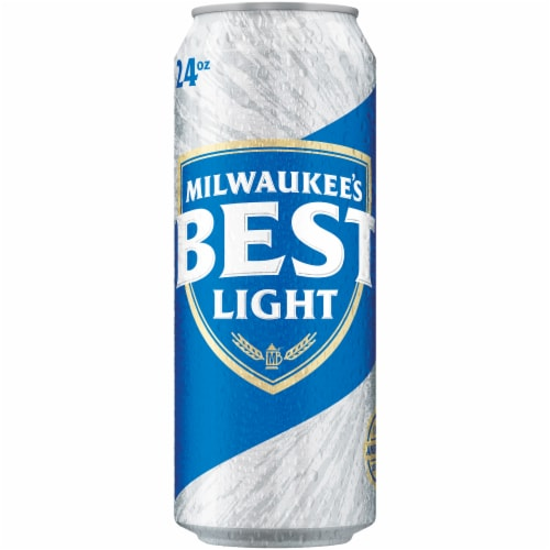 Milwaukee's Best Light American Lager Beer Perspective: front