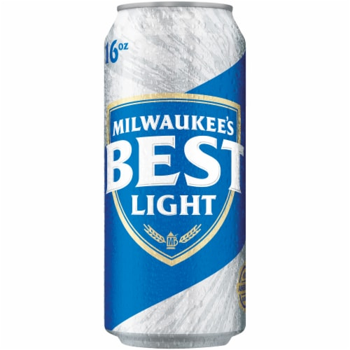 Milwaukee's Best Light American Lager Beer 6 Count Perspective: front
