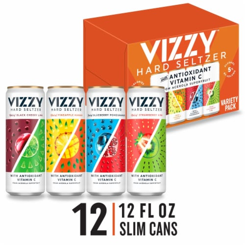Vizzy Hard Seltzer Variety Pack 12 Cans Perspective: front
