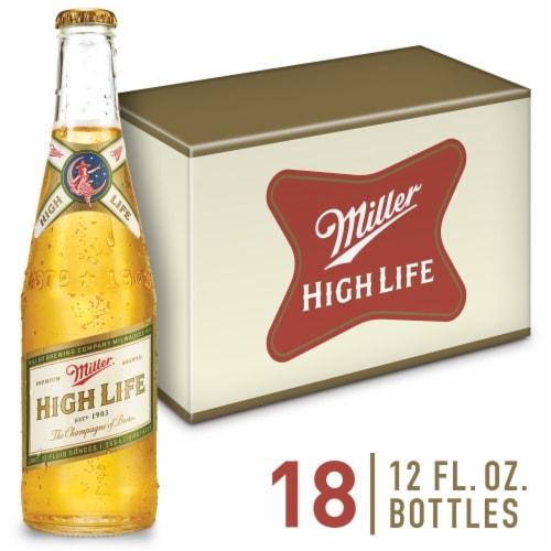 Miller High Life American Lager Beer 18 Bottles Perspective: front