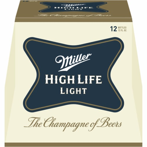 Miller High Life Light Lager Beer Perspective: front