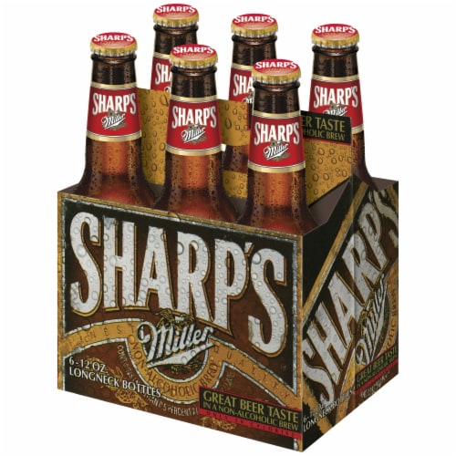 Sharp's Non-Alcoholic Brew 6 Count Perspective: front