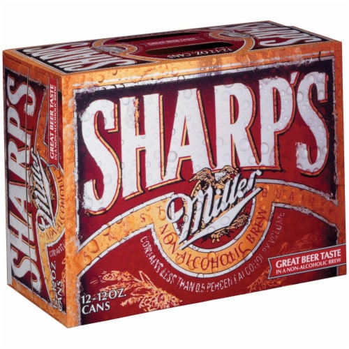 Sharp's Non-Alcoholic Brew 12 Count Perspective: front