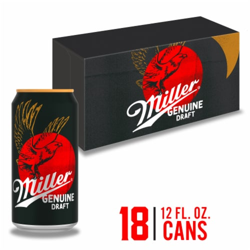 Miller Genuine Draft American Lager Beer Perspective: front